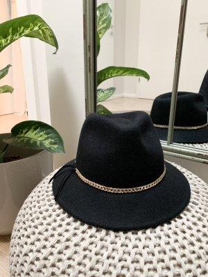 Massimo Dutti Felt Hat black-gold-colored