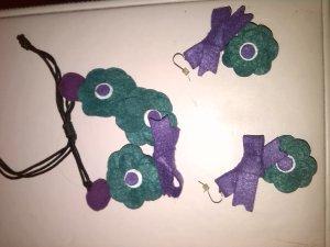 Bijoux de bras vert foncé-violet foncé