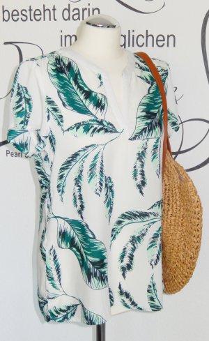 FINAL SALE bis 30.09.!! Luftiges Blusenshirt im trendigen tropical Design (100% Viskose) - NEU!!