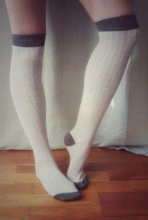 FINAL SALE! Herbst Overknees Topshop Asos beige braun Socken Knie 38-39
