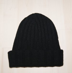 United Colors of Benetton Knitted Hat black wool