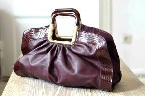 FINAL SALE! Morgan Tasche Handtasche weinrot gold NEU