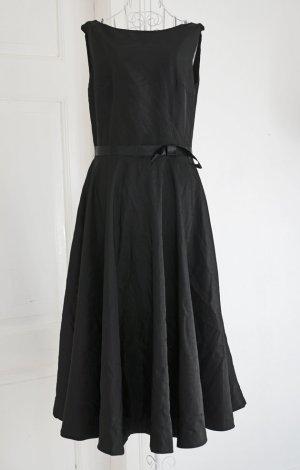 FINAL SALE! Unikat Einzelstück Vintage Kleid schwarz Schleife Petticoat 38 NEU