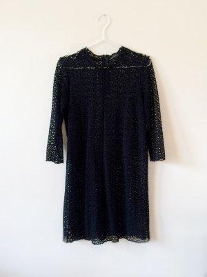 FINAL SALE! Zara Premium Collection Häkel Kleid Luxus 100% Baumwolle M neu