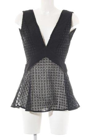 Finders Keepers ärmellose Bluse schwarz Elegant