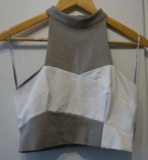 Finders Keepers T-shirt court gris-blanc cassé
