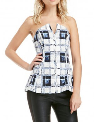 Finders Keepers Reformation Bustier Corsage Peplum Top