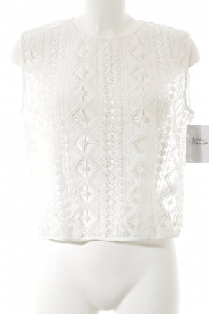 Finders Keepers Haut en dentelle blanc motif abstrait style Boho