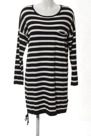 Finery Robe pull noir-blanc motif rayé style décontracté