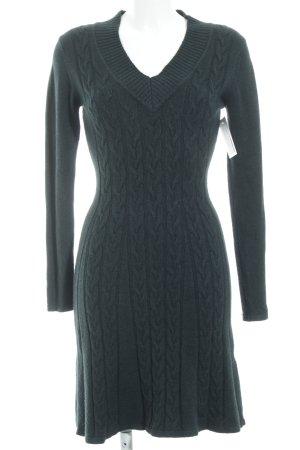 Finery Strickkleid dunkelgrün Zopfmuster Casual-Look