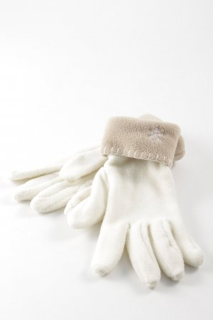 Fingerhandschuhe creme-beige Street-Fashion-Look