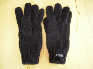 Gloves black synthetic fibre