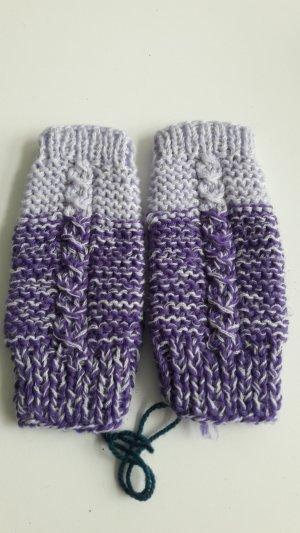 Gebreide handschoenen paars-donkerpaars