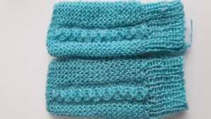 Knitted Gloves baby blue mohair