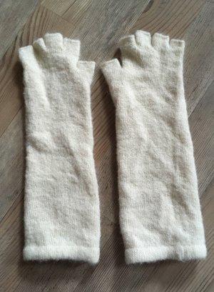 Fingerlose Handschuhe in creme Einheitsgröße