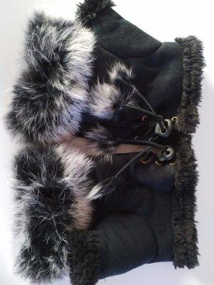 Fingerlose Handschuhe mit echtem Kaninchen Fell
