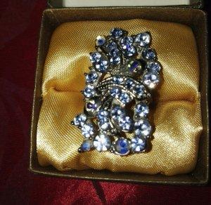 Swarovski Anello blu acciaio-blu fiordaliso