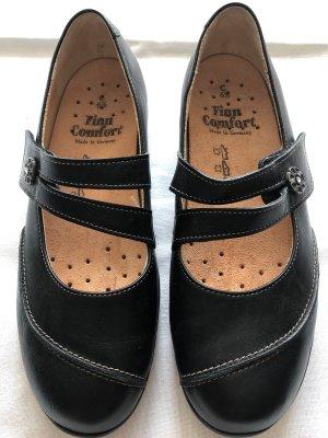 Finn Comfort Sandalias cómodas negro Cuero