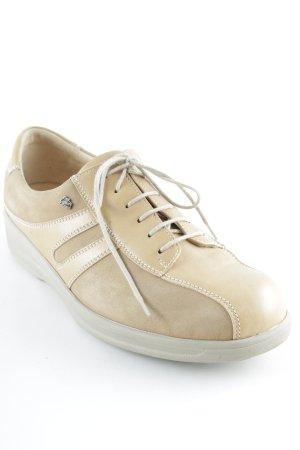 Finn Comfort Schnürschuhe beige-creme Streifenmuster klassischer Stil