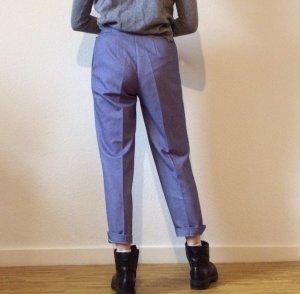Vintage High Waist Trousers light blue