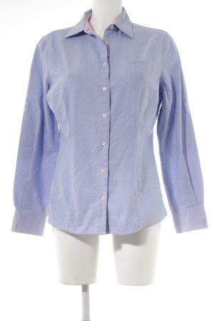 Fior da Liso Langarm-Bluse himmelblau-hellrosa Business-Look