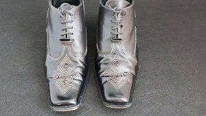 Fiorangelo Glattleder Business Schuhe, 37, Stickerei, Hochwertig Verarbeitung