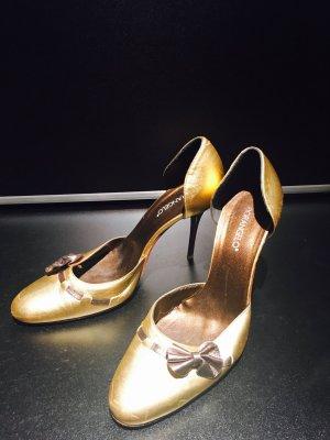 Fiorangelo, Italy Golden High Heels Gr. 37