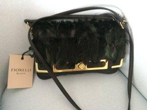 Fiorelli Handtasche Leder schwarz neu mit Feder