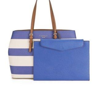Fiorelli Tote Bag Blue/White *Neu*
