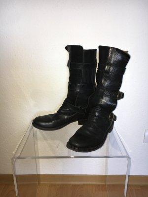 Fiorentini & baker Biker Boots schwarz Leder 40 41
