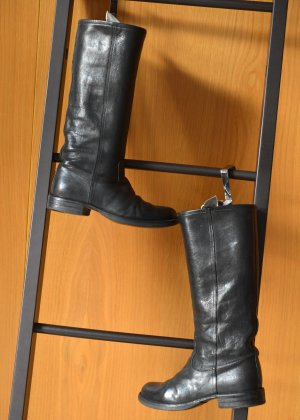 FIORENTINI & BAKER derbe Stiefel 36 37 Schaftstiefel used Schwarz Schlupfstiefel Eternity