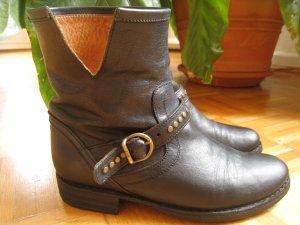 Fiorentini Baker Eli-S 39 (40) schwarz Leder Stiefelette Boots Biker Jades Unger