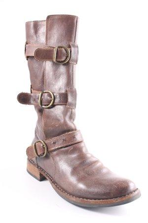 Fiorentini & baker Botas estilo vaquero marrón grisáceo estilo country