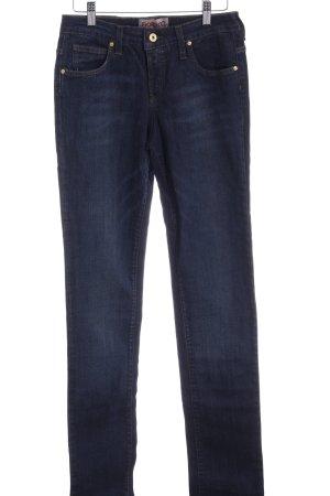Fiorucci Straight-Leg Jeans dunkelblau Casual-Look