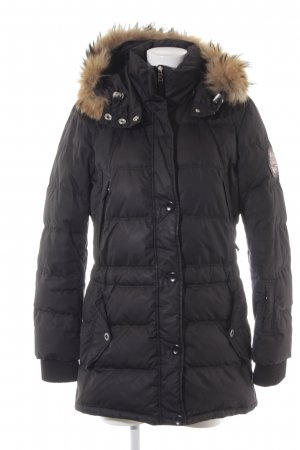 Fire + ice Down Coat black-light brown casual look