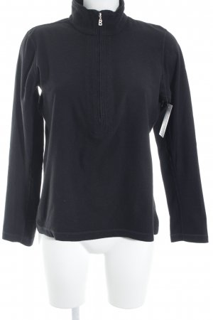 Fire + ice Fleecepullover schwarz Casual-Look