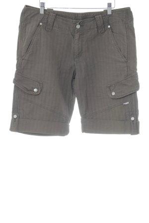 Fire + ice Shorts brown striped pattern safari look