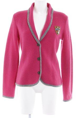 Fire + ice Woll-Blazer grau-pink klassischer Stil