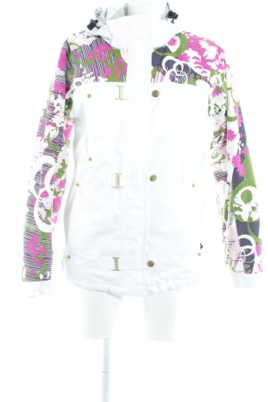 Firefly Sportjacke weiß florales Muster Casual-Look