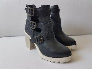 Firetrap Quince Damen Ankle Boots Echtleder
