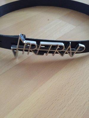 Firetrap - schwarzer Lackgürtel in Größe S