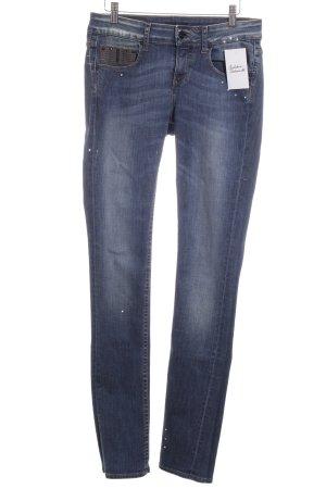 Firetrap Straight-Leg Jeans blau Farbtupfermuster Casual-Look