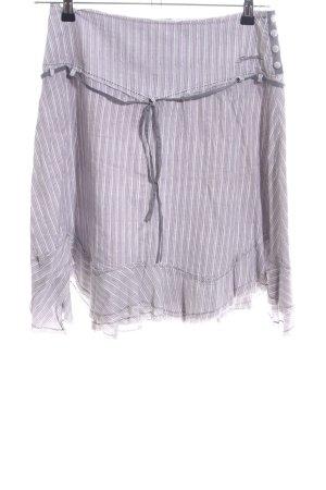 Firetrap Jupe corolle violet-blanc motif rayé style décontracté
