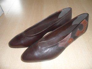 Chaussure décontractée brun noir cuir