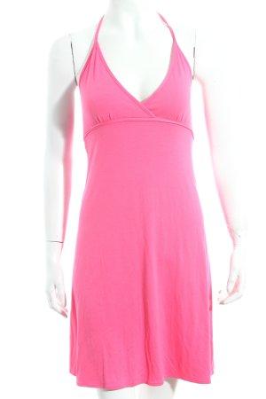 FIRMA Berlin Neckholderkleid pink klassischer Stil