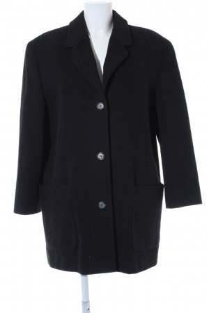 Fischer Stuttgart Wool Coat dark grey casual look