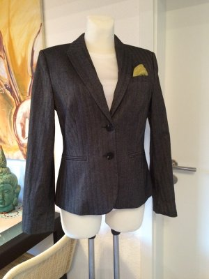 Fischgrätmuster Blazer *Esprit Collection* Gr. 40 grau/braun