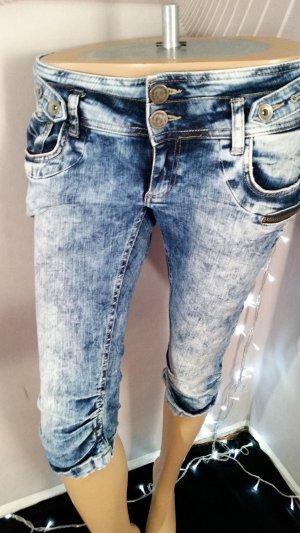 Fishbone Pantaloncino di jeans blu Cotone