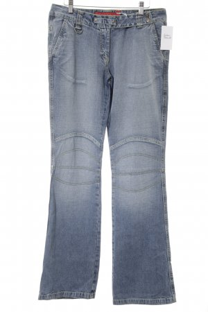 Fishbone Boot Cut Jeans light blue casual look