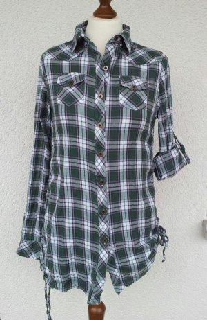 Fishbone by New Yorker Hemd in XL (38), Grün / Weiß kariert, variabel tragbar